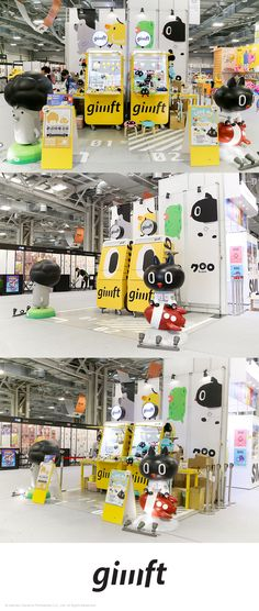 Creative Expo Taiwan The Giiiift is quite flexible and you can customize by combining with other modules to fit your needs. AD 趙 彥傑 D 黃 淳鈺 Exhibition Booth Design, Exhibition Display, Exhibition Space, Window Display Design, Pop Display, Art Public, Line Friends, Retail Design, Store Design