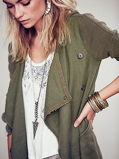 Free People Drippy Linen Jacket at Free People Clothing Boutique