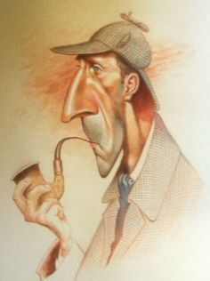 Sherlock Holmes in caricature (one of many)