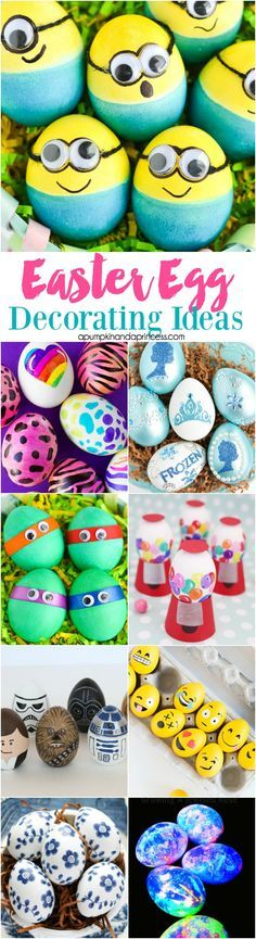 Easter Egg Decorating Ideas - 30+ egg decorating ideas for kids and adults! (Diy Decoracion Living)