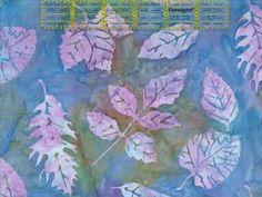 Lavender - Hoffman Bali Batik Handpaints Fall Leaf - Retired