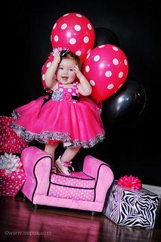 Perfect first birthday dress theme! Minnie Mouse Zebra Tutu Dress.