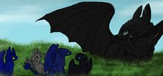 nightshade and toothless | Corfu and the Cubs - Gift for PandaFilms by therealtwilightstar