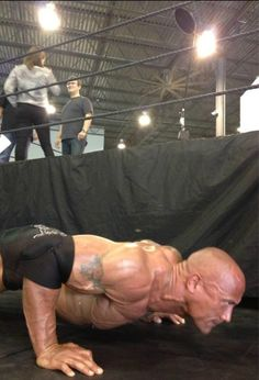 """The Rock tweets a photo from the set of a WWE commercial/photo shoot: November 6, 2012 The Rock says:""""Blood pumpin'.. minutes away from @WWE photo/commercial shoot. Energy. Intensity. 3..2.. #RockMode"""" Guessing this is for the Royal Rumble where Rock..."""