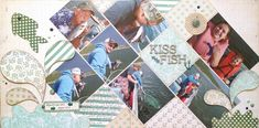 Kiss the Fish layout by Gail Owens for @kiwilane using Kiwi Lane Designs templates and My Mind's Eye paper