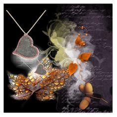 """Anastazio Deep Love Heart Pendant"" by ilona-828 ❤ liked on Polyvore featuring картины"