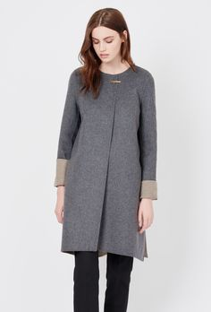 this reversible wool-cashmere coat is so dreamy! I love the jewelry closure. both colors are fab <3