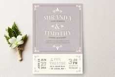 Marquee Wedding Invitations by Laura Hankins at minted.com