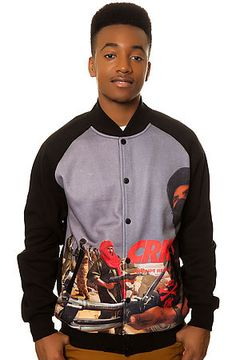 The Corrupt Baseball Jacket in Black by Crooks and Castles