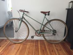 Damen Rennrad Vintage / Retro In 28 Zoll mit Brooks Sattel braun in Sport, Radsport, Fahrräder | eBay