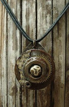 Altered Alchemy Gallery: RustART Series by Luthien Thye. Clay Jewelry, Metal Jewelry, Jewelry Crafts, Jewelry Art, Women Jewelry, Unique Jewelry, Jewelry Ideas, Ladies Jewelry, Jewellery