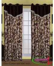 Extend the beauty of doors with decorative & Fancy #DoorCurtains which makeover your home.