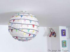 Boule japonaise IKEA customisée guirlande fanions Au pays des Cactus 1