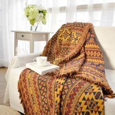 Frugal Mandala Sofa Throw Blanket Boho Knit Chair Sofa Cover Towel Bohemian Carpet Table Cloth Cotton Plaids Bedding Covertapestry Various Styles Home Automation Modules Smart Home