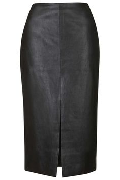 Photo 1 of Split Front PU Pencil Skirt