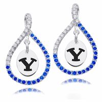 Our Officially Licensed Colored CZ Figure 8 earring collection features 68 full cut Cubic Zirconia set in solid sterling silver. The school mark is featured in the center of the earring as a subtle way to show you spirit in style. Match these earrings with our colored CZ figure 8 necklace collection for a complete set!