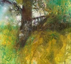 Under the Oak Tree - Ann Blockley SWA  -  watercolor and mixed media