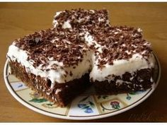 Czech Desserts, Baking Recipes, Cake Recipes, Czech Recipes, Pie Dessert, Pavlova, Something Sweet, Vegetable Dishes, No Bake Cake