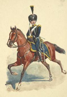 Cavaliere del 4 rgt. lancieri del regno delle due Sicilie