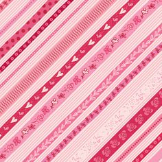 Sweet Talk Hearts Stripes paper