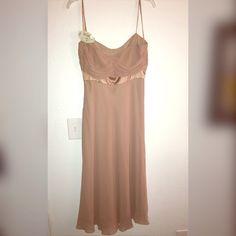 Pure silk evening dress Beige in color, pure silk. Anne Klein Dresses Wedding