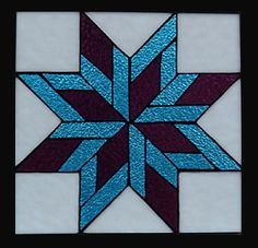Stained Glass Heirlooms: Star Quilt Block Peacock