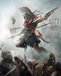 This is Sparta Gladiator Tattoo, Arte Assassins Creed, Assassins Creed Odyssey, Greek Warrior, Fantasy Warrior, Christus Tattoo, Film Manga, Spartan Tattoo, Roman Warriors