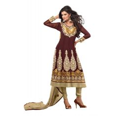 Beautiful Georgette Embroidered Semi-Stitched Salwar Suit  Shop Now >> http://ealpha.com/suits-and-chudidar/270?utm_source=Ealpha%20&utm_medium=Promotion%20&utm_campaign=Salwar%20suit