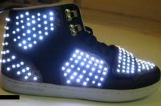 led shoes Motion Sensing Animated LED Sneakers from Step Up 3 D Step Up 3, Light Up Sneakers, Light Up Shoes, Lit Shoes, Arduino, Couture Cuir, Rave Ready, E Textiles, Nike Outlet