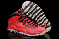 Authentic Air Jordan 10 Red Cement Vivid Red Black-White Cement For Sale 2015