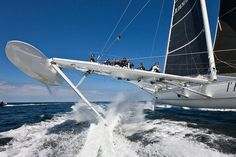 Hydroptere Sailboat Setting Speed Records 4