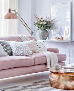 réussir décor salon 10 conseils divan rose inspiration décoration salon