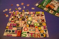 Cut up letters from magazines and glue to a magnet sheet. Simply cut and then use! This idea would also be great with simple pictures (apple, elephant). Kids can match the letter magnet to a picture magnet that begins with that sound.