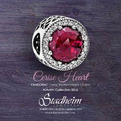 Pandora Cerise Heart Charm - Autumn 2016 Más