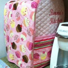 Cupcake cover for Kitchenaid mixer; found on eBay