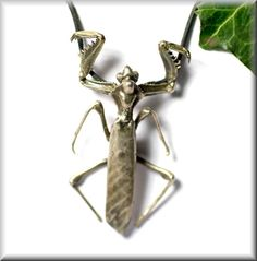 Pendant Mantis made of sterling silver praying mantis by Silberakt