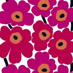 Design Classics #16: Marimekko Unikko Fabric - Mad About The House
