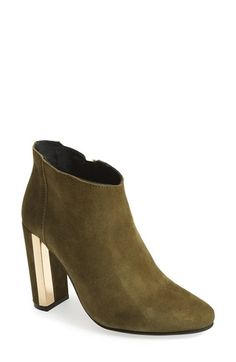 Topshop 'Halo' Metal Trim Ankle Bootie
