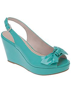 Peep toe sling back wedge by Lane Bryant $49.95