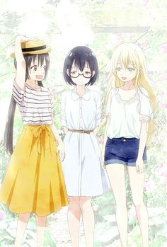 Browse pictures from the anime Asobi Asobase OVA on MyAnimeList, the internet's largest anime database. Included with seventh volume of the Asobi Asobase manga. Anime Angel, Ange Anime, Anime Best Friends, Friend Anime, Anime Boys, Chica Anime Manga, Anime Art Girl, Anime Kawaii, Anime Friendship