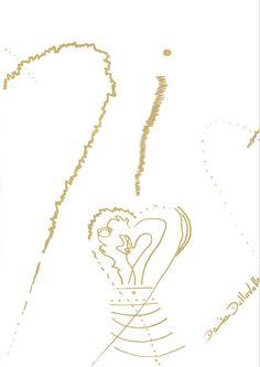 DARTGR0115022 #Heart #Gold #DanielaDallavalle #Grafismi #loveistheanswer #ink #sketches #art #sentences #phrase
