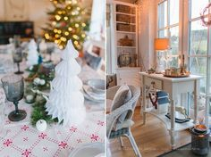 Unser Weihnachtstisch 2014 (und viele Fragen zum neuen Esszimmer)