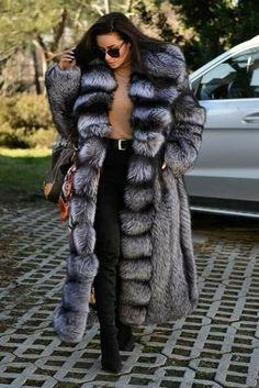 Blankets, Fur And Bondage Chinchilla, Long Fur Coat, Fur Coats, Long Coats, Fur Coat Outfit, Sable Coat, Fabulous Furs, Bodycon Dress With Sleeves, Fur Fashion