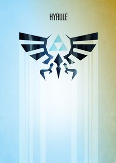 Hyrule Rising Minimal Vector Art Inspired by the Legend of Zelda gaming series.