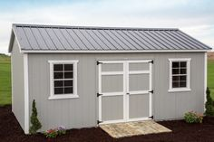 Byler Barns sheds mean quality and service. Only the best shed materials and warranties. See sheds for sale. Vinyl Sheds, Portable Sheds, Shed Floor, Summer House Garden, Sheds For Sale, Architectural Shingles, Free Shed Plans, Shed Building Plans, Roof Colors