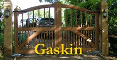 Hampshire Gates The Gaskin Gates Hampshire The Gaskin Hampshie Gates make made to measue wooden gates to any width, height or design. We make gates like the Gaskin which is see through design...