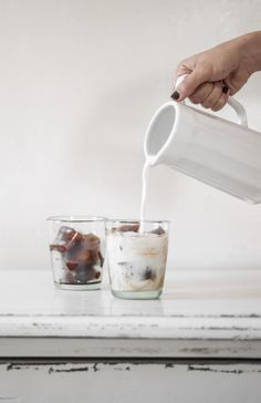 "grayskymorning: "" Coffee Ice Cube Latte """