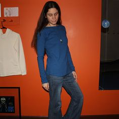 extra long sleeve boat neck shirt  100 hemp and organic by xusah