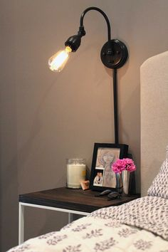 Literally hours after seeing this ikea hack(and I don't use the word literally lightly), I forced my boyfriend to go to ikea with me to make these. Our nightstands were in dire need of retir…