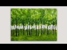 Easy Acrylic painting. I use white and blue acrylic paint to paint the background and olive green, yellow ochre and black to paint the trees. This is a quick...